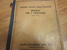 Allis Chalmers HD 7 Tractor Parts Catalog