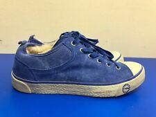 UGG Evera 1888 blue Suede Leather Sneaker Sheepskin Shearling  SZ US 6.5 EU 37.5