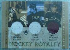 Mario Lemieux/Lang/Nieminen 2002-03 UD Classic Portraits Hockey Royalty Jersey