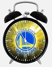 "Golden State Warriors Alarm Desk Clock 3.75"" Home or Office Decor E480 Nice Gift"