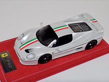 1/18 Looksmart MR Ferrari F50 Coupe in Fuji White Italian Flag on Red Alcantara