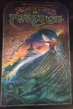 ADVENTURES IN PARADISE-Op Scott Dittrich 20x30 AUS 1982 Surfing Poster Enright