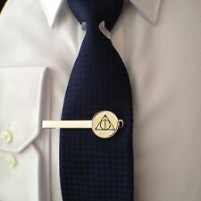 HARRY POTTER DEATHLY HALLOWS  - TIE CLIP - 3D GLASS LENS FRONT - GIFT
