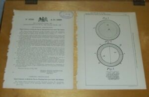 IMPROVEMENTS IN BALLS FOR PLAYING POLO & LIKE GAMES PATENT DRYBROUGH LONDON 1899