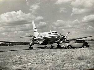 Aviation Traders Accountant press photo with Freddie Lakers Rolls Royce Southend