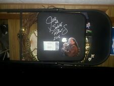 """""""Jake The Snake Roberts"""" signed metal chair!/with 2 used WWE tickets! 1989!"""