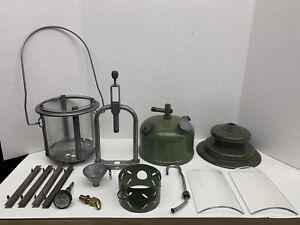Coleman Single Mantle 1958 252A Milspec Lantern Quad Globe Extra Glass/Channels
