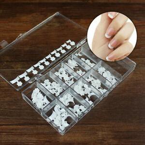 100 Pcs False Short French Nail Tips Fake Nails Art Acrylic For Nail Gel Polish