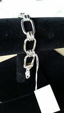 "Fine Sterling Silver Link Bracelet 8"" Dobbs Boston Italy"