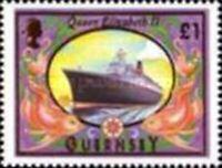 GUERNSEY 1998 SHIP DEFINITIVE £1 VALUE STAMP MNH