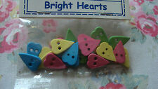 Favorite Findings Mix BRIGHT  Hearts Buttons -Scrapbooking/Craft/Doll Clothes