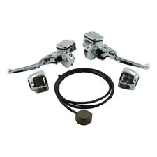 Umrüstkit auf hydraulische Kupplung Chrom f. Harley-Davidson Softail, Dyna 96-06