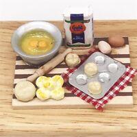 1:12 Mini Dollhouse Food Chopping Board Snack Making Bread Table Miniature ITEM