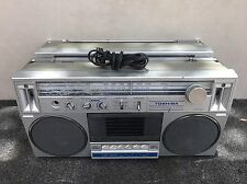 2x TOSHIBA VINTAGE 80's BOOMBOX RADIO TAPE PLAYERS RT-130S For Parts Not Working