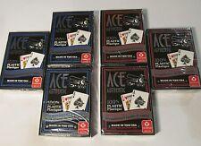 6 NEW DECKS SEALED ACE 100% PLASTIC PLAYING CARDS POKER WASHABLE CARTAMUNDI