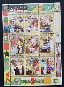 R.Niger-Papal visit to Africa-1M/Sh.-MNH**-NIG 16