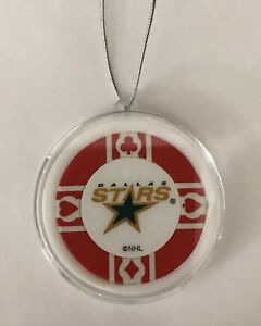 Dallas Stars Poker Chip Christmas Tree Ornament Holiday NHL Hockey