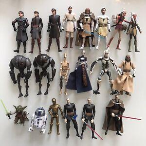 "Star Wars CLONE WARS 2008 Animated Figures 3.75"" Hasbro Toy Bundle RARE Ventress"