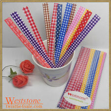 """50 pcs 5"""" colored printing Twist Ties for Candy Cello Bags"""