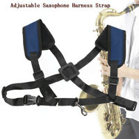 Adjustable Soft Sax Harness Shoulder Pad Strap Saxophone For Alto Tenor  //