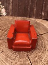 SCALA 1:16th VINTAGE RED CRESCENT Sedia in metallo. alcuni graffi