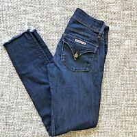 HUDSON Collin Skinny Jeans Medium Wash in Geno ~ Flap ~ Raw Hem - Size 25