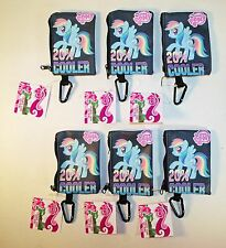 6 My Little Pony Rainbow Dash Coin Purse / Wallet w Key Ring - Fun Party Favors!