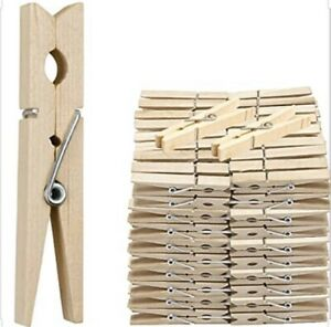 36 Wooden Clothes Pegs washing line  wood peg gardens airer-dry natural colour
