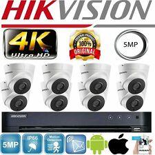 HIKVISION 4/8 CH DVR HD UHD 5MP Hikvision Camera Turret 40M Night Vision IR CCT