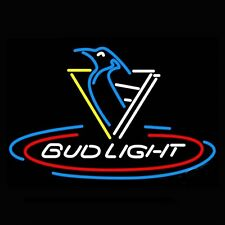 """New Bud Light Pittsburgh Penguins NHL Beer Neon Sign 32""""x24"""""""