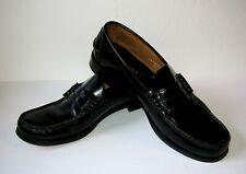 FLORSHEIM Men's 10 1/2 D Black Leather Penny Loafers