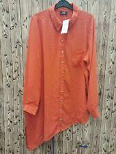 Wallis ladies long blouse/shirt orange size L polyester long sleeve