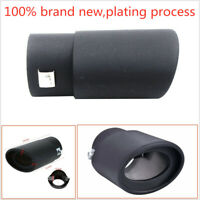 Car Exhaust Pipe Inlet Tips Muffler Pipe Tail Throat Black 63mm Stailess Steel