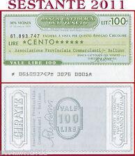 BANCA CATTOLICA DEL VENETO Lire 100 17.12. 1976 ASSOC. COMMERCIANTI BELLUNO B2