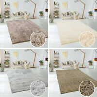 Teppich Hochflor Shaggy Micro Polyester Einfarbig in Beige, Ivory, Silber, Taupe