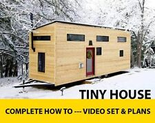 Tiny House Plans DIY Video DVD Set 6 Hours