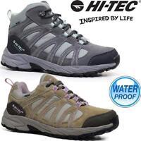 Ladies Womens Hi Tec Leather Walking Hiking Waterproof Ankle Boots Trainers Shoe