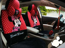 18pcs Cartoon Mickey Mouse Universal car seat cover plush seat covers car-covers