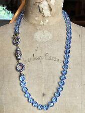 "HEIDI DAUS Light Blue ELISSAS MASTERPIECE Toggle Necklace 29.5"""