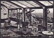 IMPERIA BORDIGHERA 61 BAR Cartolina FOTOGRAFICA viaggiata 1962