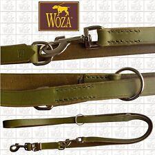 WOZA Premium Hundeleine Handgenäht Vollleder Lederleine Rindleder ПОВОДОК F41058