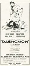1959 Music Box Theater Print Ad Peter Glenville's 'Rashomon' star Bloom Steiger