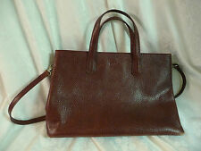 Italian Furla Pebbled Leather Tote Satchel Handbag 2 handles, shoulder strap GUC