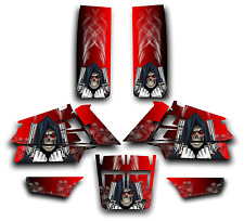 YAMAHA BANSHEE GRAPHICS DECAL KIT GRIM REAPER REVENGE STICKER WRAP RED