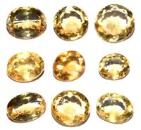 100% Natural Yellow Citrine Cut Oval Cabochon Loose Gemstone