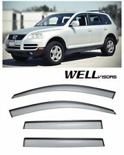 WellVisors Clip On Side Window Visors W/ Black Trim For 03-10 Volkswagen Touareg