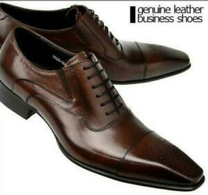 Mens Trendy Patent Leather Lace Up Business Formal Dress Oxford Brogue Shoes MON