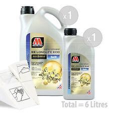 Car Engine Oil Service Kit / Pack 6 LITRES Millers NANODRIVE EE 5w-30 6L
