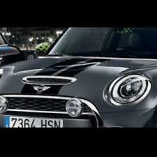 Stripe Set Sports Bonnet Tailgate Black Genuine MINI F55 Cooper S 51142359604