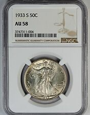 1933-S NGC AU 58 United States Walking Liberty Half Dollar